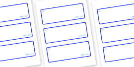 Polar Bear Themed Editable Drawer-Peg-Name Labels (Blank)