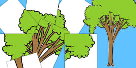 Large Cut-Out Tree (Over 7 A4 Pages)
