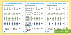 The Train Ride Addition Sheet