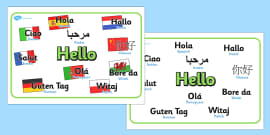 Mixed language hello speech bubble signs mixed language hello mixed language hello display signs m4hsunfo