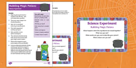 EYFS Bubbling Magic Potions Science Experiment and Prompt Card Pack
