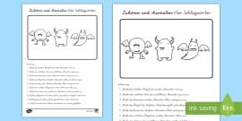 Vogelhäuschen Logical Arbeitsblatt: Lesen und Malen