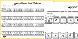 Upper Case and Lower Case Matching Activity Sheet