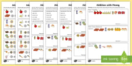 Addition with British Money Differentiated Activity Sheets