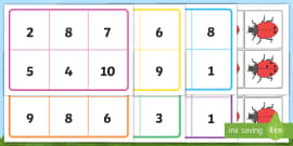 Ladybird Bingo (0-10) - Minibeasts