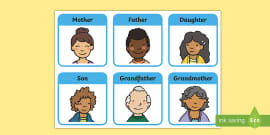 My Family Matching Cards Teacher Made - Get Matching Family Worksheet For Kindergarten PNG
