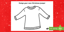 Christmas Jumper Design Activity Sheet