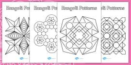Rangoli Patterns Templates