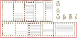 Teddy Bear Page Borders
