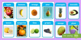 * NEW * Fruit Photo Flashcards
