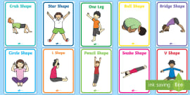 gymnastic jumps display posters  eyfs planning early