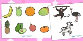 Story Cut Outs to Support Teaching on Handa's Surprise