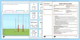 AFL Preposition Game Adult Led Focus Resource Pack