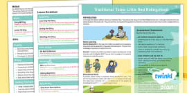 Traditional Tales: Little Red Riding Hood Y1 Planning Overview