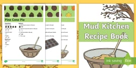 Autumn Mud Kitchen Prompt Card Recipes Resource Pack , Early