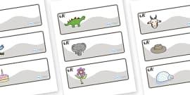 Panda Themed Editable Drawer-Peg-Name Labels