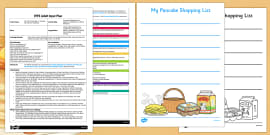 Pancake Shopping List EYFS Adult Input Plan and Resource Pack to Support Teaching on Mr Wolf's Pancakes