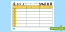 Mein Schultag Arbeitsblatt - Mein Schultag, Arbeitsblatt, Uhr