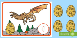 * NEW * Dragon Eggs Counting Game