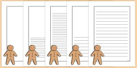 Gingerbread Man Portrait Page Borders