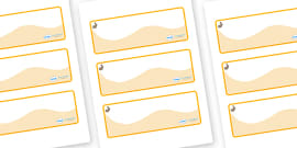 Rabbit Themed Editable Drawer-Peg-Name Labels (Colourful)