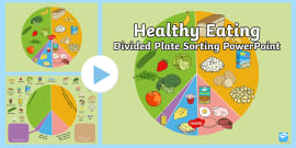Healthy Eating Divided Plate Sorting PowerPoint