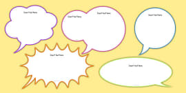 picture regarding Printable Thought Bubbles titled Absolutely free! - Editable Idea Bubble Template - Coaching Tool