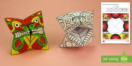 Simple 3D Chinese New Year Dragon Fortune Puppet Paper Craft