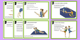 jumps leaps and turns gymnastics cards teacher made