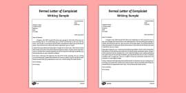 Formal letter examples ks2 formal writing example texts formal letter of complaint writing sample spiritdancerdesigns Images