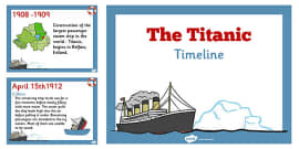 The Titanic Order of Events Timeline PowerPoint Presentation
