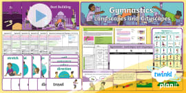 gymnastics partner balance cards  balancing symmetrical