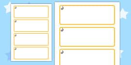 Rabbit Themed Editable Drawer-Peg-Name Labels (Blank)