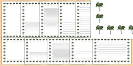 Palm Tree Themed Page Borders