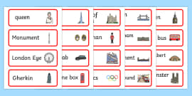 London Word Cards