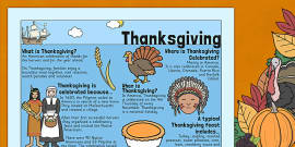Thanksgiving Where When What Poster
