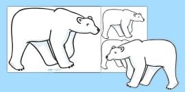 Editable Polar Bear (A4)