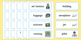 Holiday & Travel Topic Word Cards