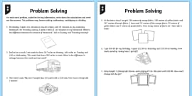 Differentiated Two-Step Word Problems Maths Worksheet