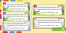 Alphabet Strips to Support Teaching on The Enormous Crocodile
