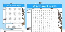 Winter Wordsearch