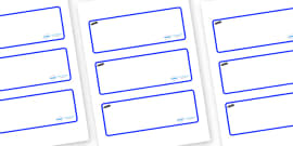 Tadpoles Themed Editable Drawer-Peg-Name Labels (Blank)