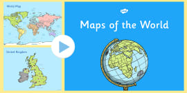 Map of the world sheet map map of the world world atlas ks1 uk europe and world map presentation gumiabroncs Image collections