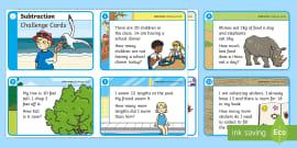 t-n-2797-ks1-subtraction-challenge-cards-_ver_1 X Worksheets Ks on