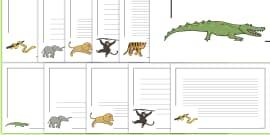 Jungle Animal Themed Page Borders