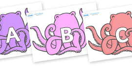 A-Z Alphabet on Octopus to Support Teaching on The Rainbow Fish