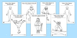 KS1 Design the Winter Olympics Sport Outfits Activity Pack