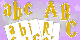 Magic Themed Display Letters and Numbers