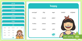 Emotions and Feeling Vocabulary Word Mats