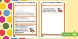 Guided Reading Questions Chapters 1 and 2 to Support Teaching on Fantastic Mr Fox